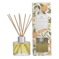 Greenleafgifts orangehoney sweet citrus zoet sinasappel signature reed diffuser geurstokjes home fragrance oil olie  interieurgeur www sajovi nl