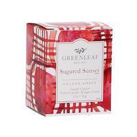 Greenleaf sugared sunset candle cube www greenleafgifts nl