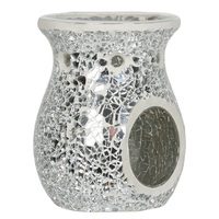 Vc606 silver lustre crackle mosaic wax melt burner woodbridge www sajovi nl
