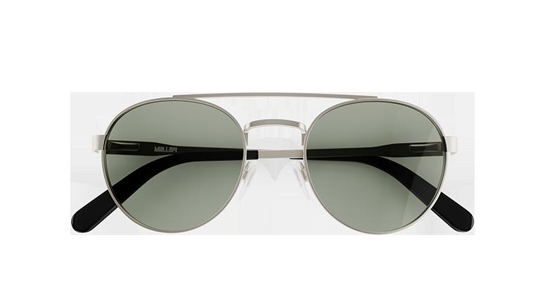 d7b963b915 W16S. Aviator-inspired silver sunglasses