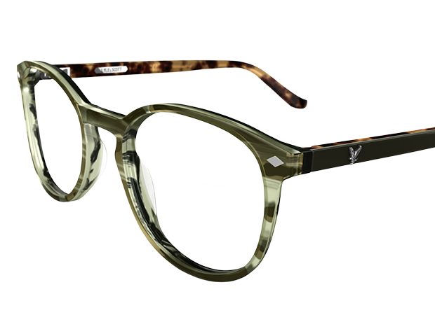 Busby designerbrille fra Lyle and Scott i moderigtig rundt brillestel