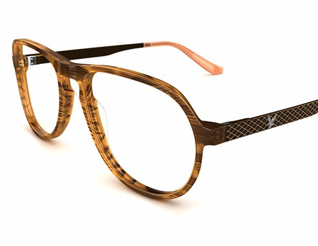 Pilotformede designerbriller fra Lyle and Scott i flot skildpaddemønster