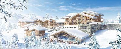 Résidence Leana: BUITENKANT RESIDENCE LEANA LES CARROZ LE GRAND MASSIF WINTERSPORT SKI SNOWBOARD LANGLAUF INTERLODGE