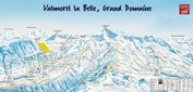 Le Grand Domaine: PISTEKAART VALMOREL LE GRAND DOMAINE WINTERSPORT FRANKRIJK INTERLODGE