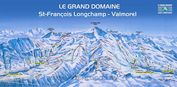 Valmorel: PISTEKAART LE GRAND DOMAINE VALMOREL WINTERSPORT FRANKRIJK INTERLODGE