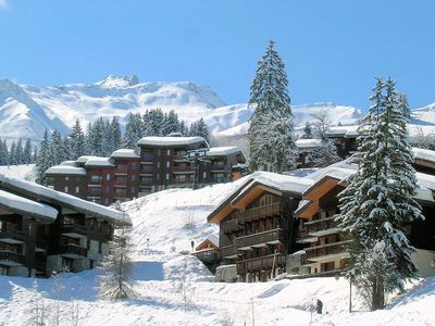 Valmorel: DORP VALMOREL LE GRAND DOMAINE WINTERSPORT FRANKRIJK SKI SNOWBOARD RAQUETTES SCHNEESCHUHLAUFEN LANGLAUFEN WANDELEN INTERLODGE