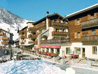 Hotel Montanina: BUITENKANT HOTEL MONTANINA LIVIGNO WINTERSPORT ITALIE SKI SNOWBOARD RAQUETTES SCHNESCHUHLAUFEN LANGLAUFEN WANDELEN INTERLODGE