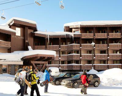 Hotel Le Val Thorens: BUITENKANT HOTEL LE VAL THORENS WINTERSPORT FRANKRIJK SKI SNOWBOARD RAQUETTES SCHNEESCHUHLAUFEN LANGLAUFEN INTERLODGE