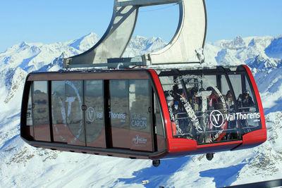 Val Thorens: CABINE CIME DE CARON VAL THORENS LES TROIS VALLEES WINTERSPORT FRANKRIJK SKI SNOWBOARD RAQUETTES LANGLAUFEN WANDELEN INTERLODGE
