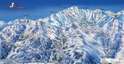 Les Trois Vallées: PISTEKAART LES TROIS VALLEES INTERLODGE