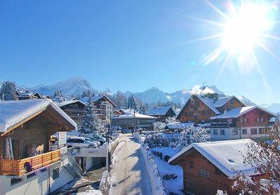 Appartementen Villars: DORP VILLARS ZWITSERLAND WINTERSPORT SKI SNOWBOARD RAQUETTE SCHNEESCHUHLAUFEN LANGLAUFEN INTERLODGE
