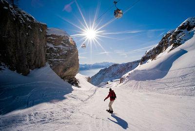 Crans Montana: BOARDER CRANS MONTANA ZWITSERLAND WINTERSPORT SKI SNOWBOARD RAQUETTE SCHNEESCHUHLAUFEN LANGLAUFEN WANDELEN INTERLODGE