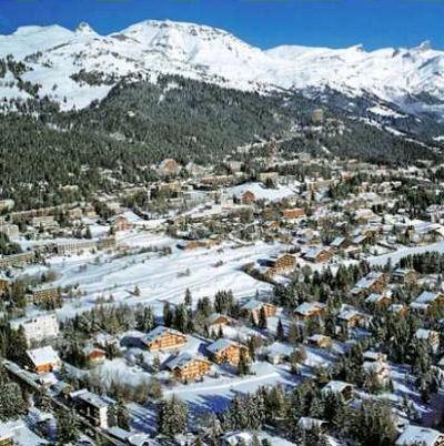 Appartementen Crans Montana: CRANS MONTANA DORP ZWITSERLAND WINTERSPORT SKI SNOWBOARD RAQUETTE SCHNEESCHUHLAUFEN LANGLAUFEN WANDELEN INTERLODGE