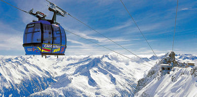 Oostenrijk: CABINE GLETSCHERBUS ZILLERTAL WINTERSPORT VAKANTIE OOSTENRIJK SKI SNOWBOARD RAQUETTE SCHNEESCHUHLAUFEN LANGLAUFEN WANDELEN INTERLODGE