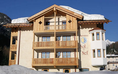 Residence Sol e Nef: APARTMENTS SOL E NEF SOTTOGUDA MARMOLADA WINTERSPORT ITALIE SKI SNOWBOARD RAQUETTES SCHNEESCHUHLAUFEN LANGLAUFEN WANDELEN INTERLODGE
