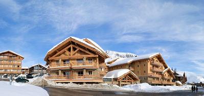 Résidence le Cristal de l'Alpe: BUITENKANT RESIDENCE CRISTAL DE L ALPE ALPE D HUEZ GRANDES ROUSSES INTERLODGE