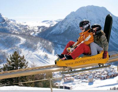 Via Lattea: BESTEMMING MONTGENEVRE VIA LATTEA FRANKRIJK WINTERSPORT SKI SNOWBOARD RAQUETTE SCHNEESCHUHLAUFEN LANGLAUFEN WANDELEN INTERLODGE