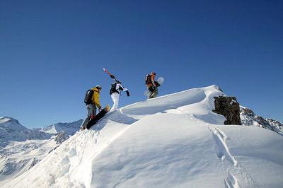 Espace Killy: FREERIDE ESPACE KILLY TIGNES FRANKRIJK WINTERSPORT SKI SNOWBOARD RAQUETTE SCHNEESCHUHLAUFEN LANGLAUFEN WANDELEN INTERLODGE