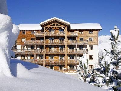 Résidence l'Alba: BUITENKANT RESIDENCE ALBA LES DEUX APES WINTERSPORT FRANKRIJK SKI SNOWBOARD RAQUETTES SCHNEESCHUHLAUFEN LANGLAUFEN WANDELEN INTERLODGE