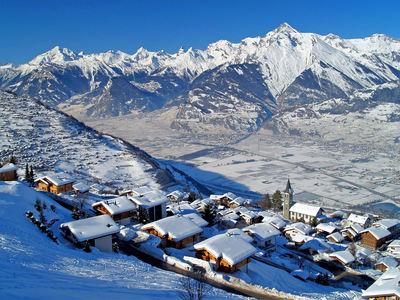 Veysonnaz: BERGDORP VEYSONNAZ LES QUATRE VALLEES ZWITSERLAND WINTERSPORT SKI SNOWBOARD RAQUETTE SCHNEESCHUHLAUFEN LANGLAUFEN WANDELEN INTERLODGE