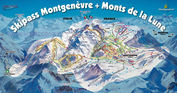 Via Lattea: PISTEKAART MONTGENEVRE VIA LATTEA WINTERSPORT FRANKRIJK INTERLODGE