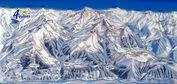 Les Quatre Vallées: LES 4 VALLE‰ES PISTEKAART WINTERSPORT ZWITSERLAND INTERLODGE