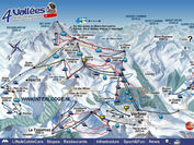 Verbier: VERBIER PISTEMAP LES QUATRE VALLEES WINTERSPORT ZWITSERLAND INTERLODGE
