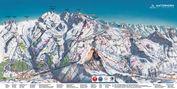 Matterhorn Ski Paradise: ZERMATT-BREUIL CERVINIA PISTEKAART WINTERSPORT ZWITSERLAND INTERLODGE