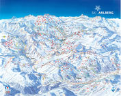 Sankt Anton am Arlberg: PISTEKAART ARLBERG WINTERSPORT OOSTENRIJK INTERLODGE