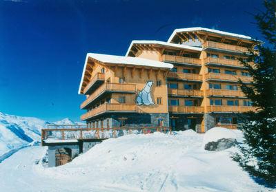 Hotel L'Ours Blanc: BUITENKANT HOTEL L OURS BLANC LES MENUIRES LES TROIS VALLEES INTERLODGE