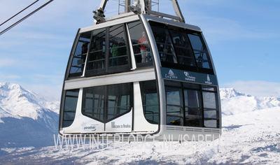 Paradiski: BEELD PARADISKI VANOISE EXPRESS FRANKRIJK WINTERSPORT SKI SNOWBOARD RAQUETTE SCHNEESCHUHLAUFEN LANGLAUFEN WANDELEN INTERLODGE