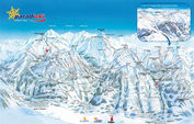 Belle Plagne: PISTEKAART PARADISKI WINTERSPORT FRANKRIJK INTERLODGE