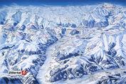 Ried im Zillertal: PISTEKAART ZILLERTAL ARENA WINTERSPORT OOSTENRIJK INTERLODGE