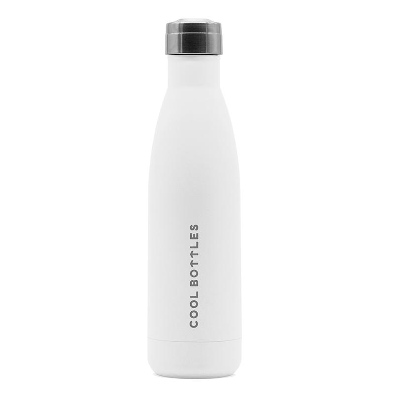 Botella de acero inoxidable Mono White