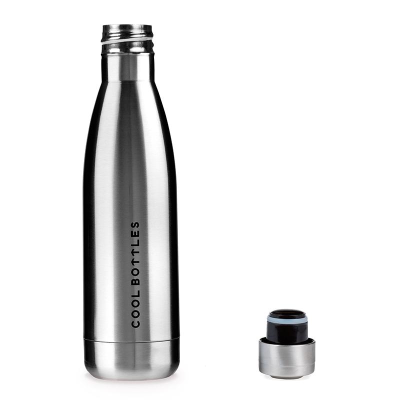 Botella de acero inoxidable Metallic Silver