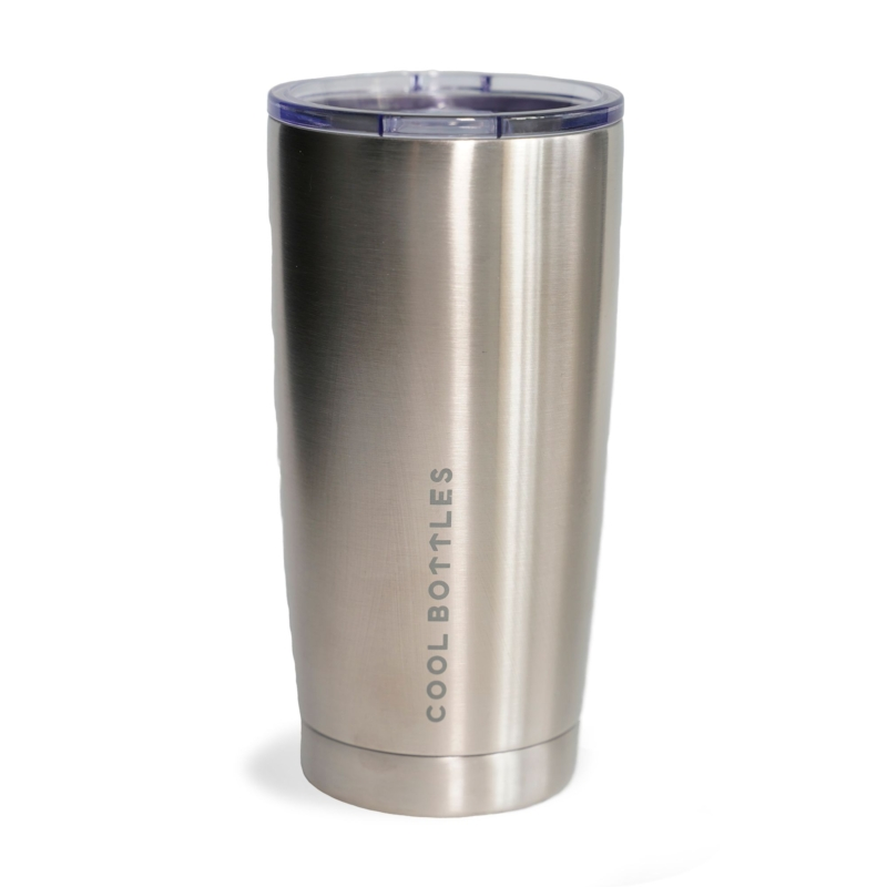 Vaso de acero inoxidable Metallic Silver