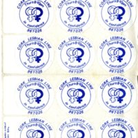 Cork Lesbian Line Stickers