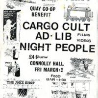 1985 Quay Co-op Benefit Poster