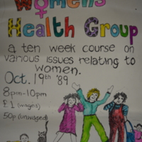 1989 Poster Women's Health Course Women's Place Cork