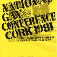 Poster 1981 National Gay Conference Cork