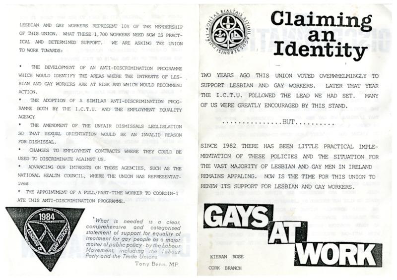 1984 Gays at Work IGPSU Leaflet