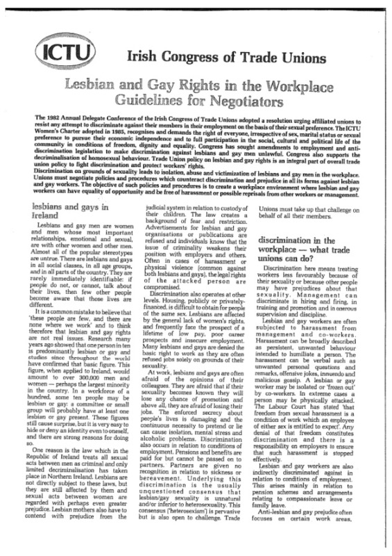 ICTU 1987 Lesbian and Gay Rights in the Workplace Guidelines for Negotiators