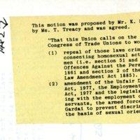 1982 Gay Rights Motion LGPSU