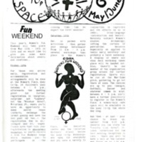 Women's Space Newsletter No 6 May/June 1989