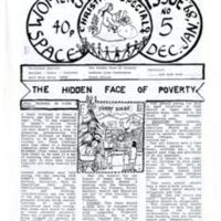 Women's Space Newsletter Issue No 5 Dec 88 / Jan 89