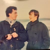 Kieran Rose Joan McCarthy c1986 Dublin beach.jpg