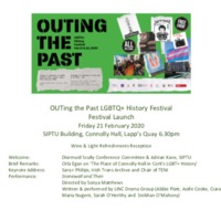 Programme 2nd Outing the Past LGBTQ+ History Festival Cork 2020