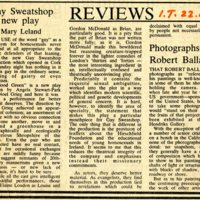 Irish Times review of 1980 Cork performance by Gay Sweatshop