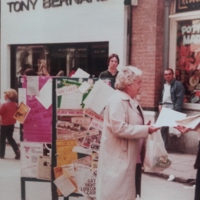 Tony O Regan Cork Pride Leafleting 1981 Princes Street.jpg