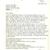 22 April 81 Letter re National Gay Conference Cork